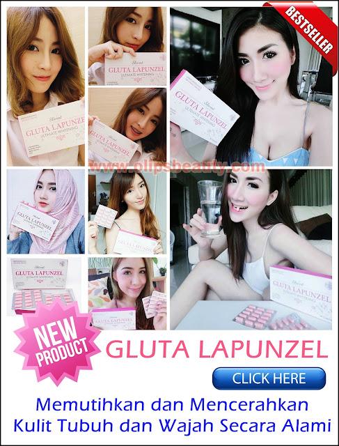 Gluta Lapunzel - Suplemen pemutih kulit tubuh dan mencerahkan wajah alami
