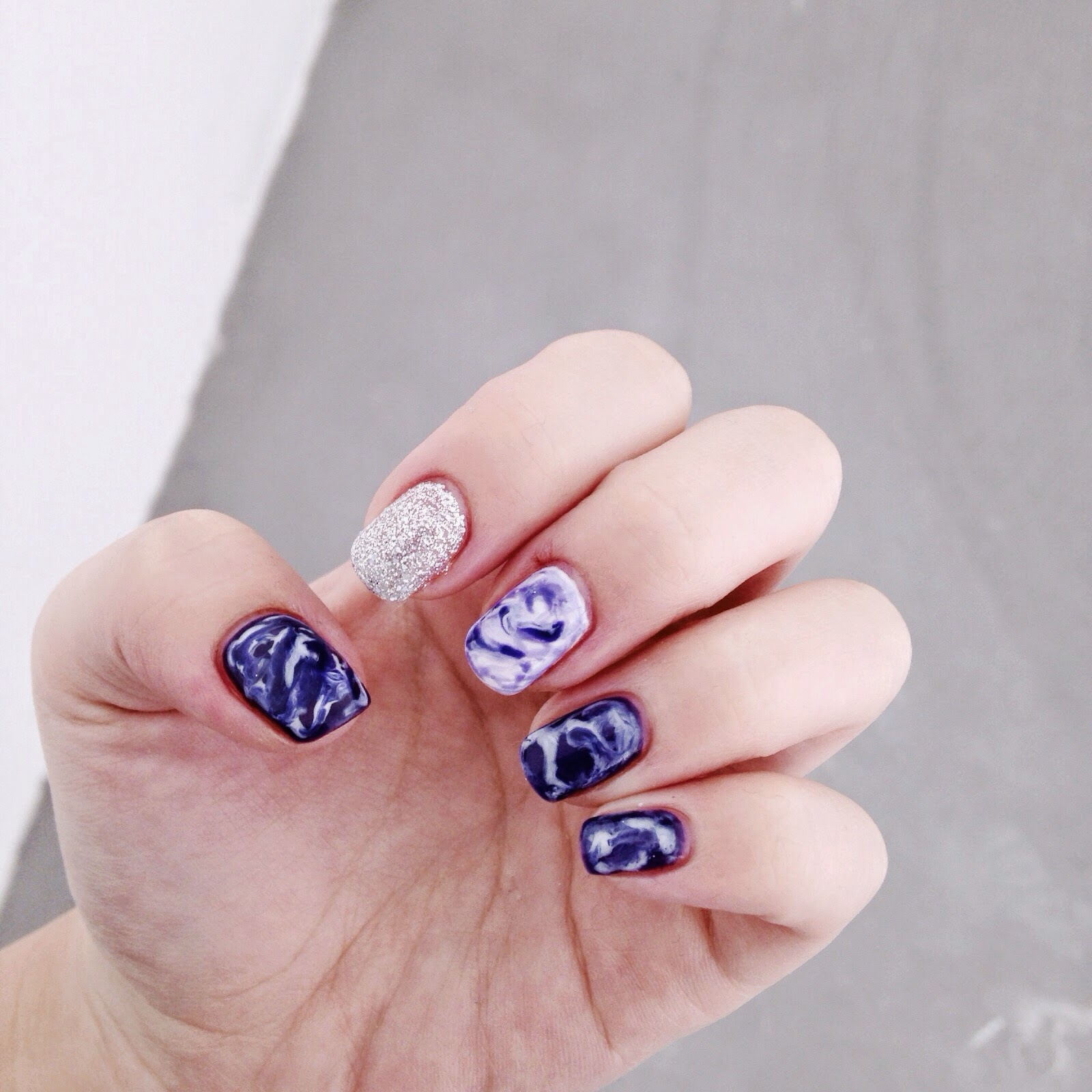 Child of the riot.: Space Marble Nails
