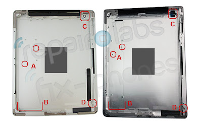iPad 3 vs. iPad 2 back case