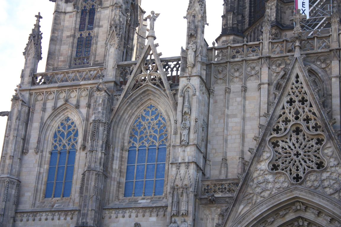 Gothic Windows Of The Barcelona Cathedral