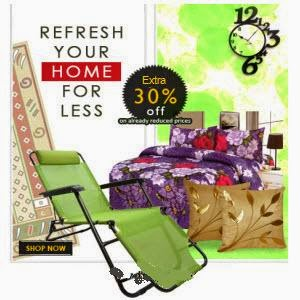 Jabong: Buy Home Furnishing upto 33% off and Buy 1 Get 1 Free with 30% off on Rs. 1299 + 5% off