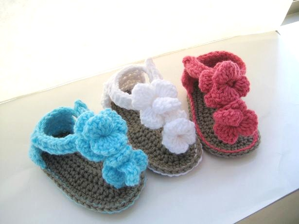 Crochet Baby Booties Written Pattern : Crochet Dreamz: Orchid Sandals Crochet Baby Booties Pattern