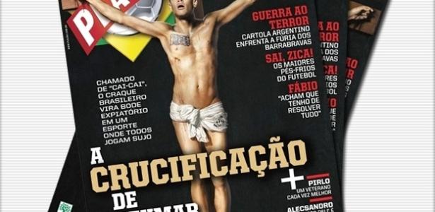 Neymar crucificado