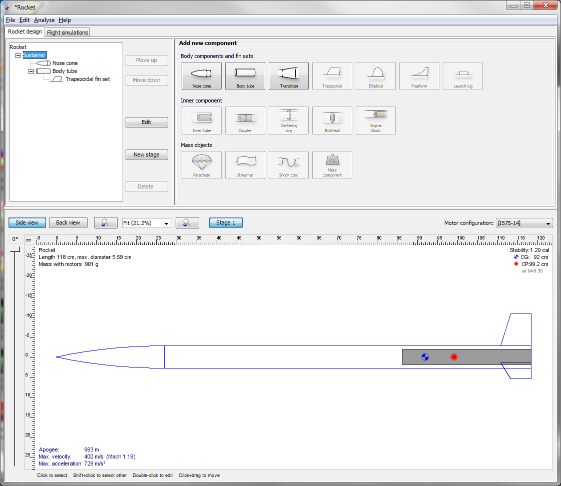Pvc Rocketry Using Free Eng Editor Srm And Open Rocket Timers For Ejection Step 10 Simulation