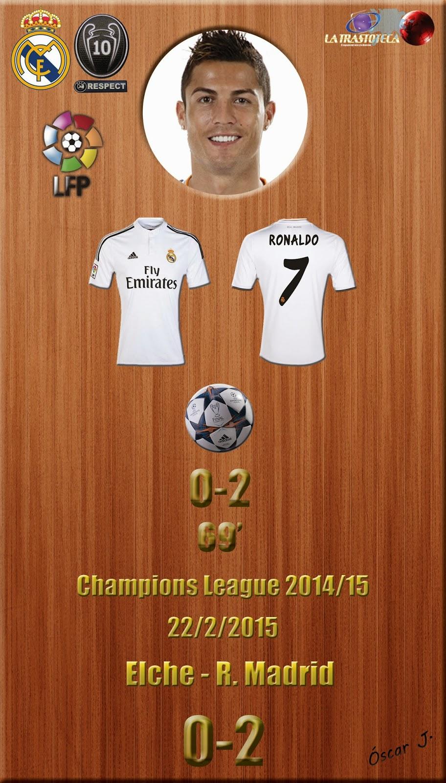 Elche 0- 2 Real Madrid - Liga 2014/15 - Jornada 24 - (22/2/2015)