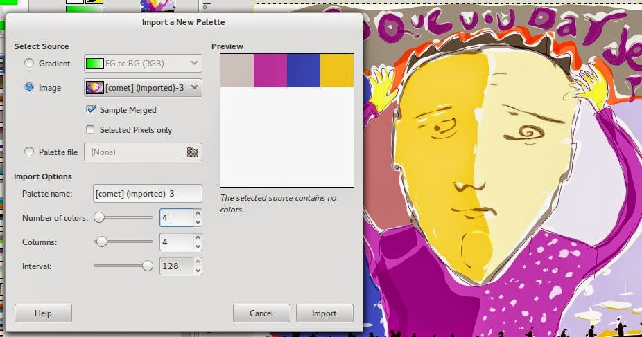 Adjusting the range of a palette from a 8 bit RGB image.