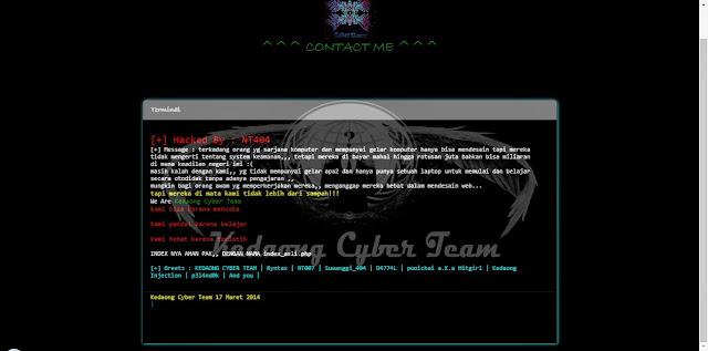 Website MPR Diserang Hacker NT404