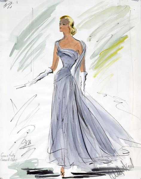 Last Although The White Strapless Dress That Grace Kelly Wore In To Catch A Thief Is More Famous I Prefer Sky Blue One Both Were Designed By Edith