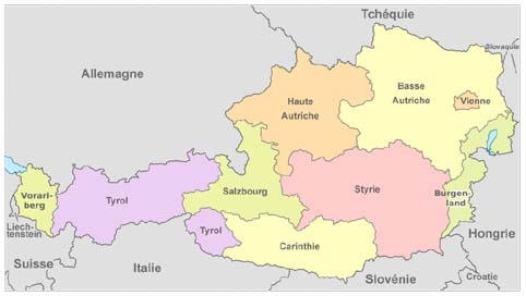 Héraldie: L'Autriche : vexillologie et héraldique des États