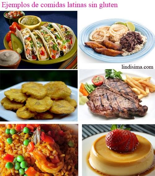 comidas sin gluten