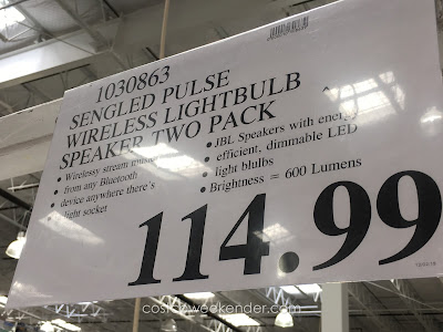 Deal for the Sengled Pulse LED and Wireless Speaker at Costco