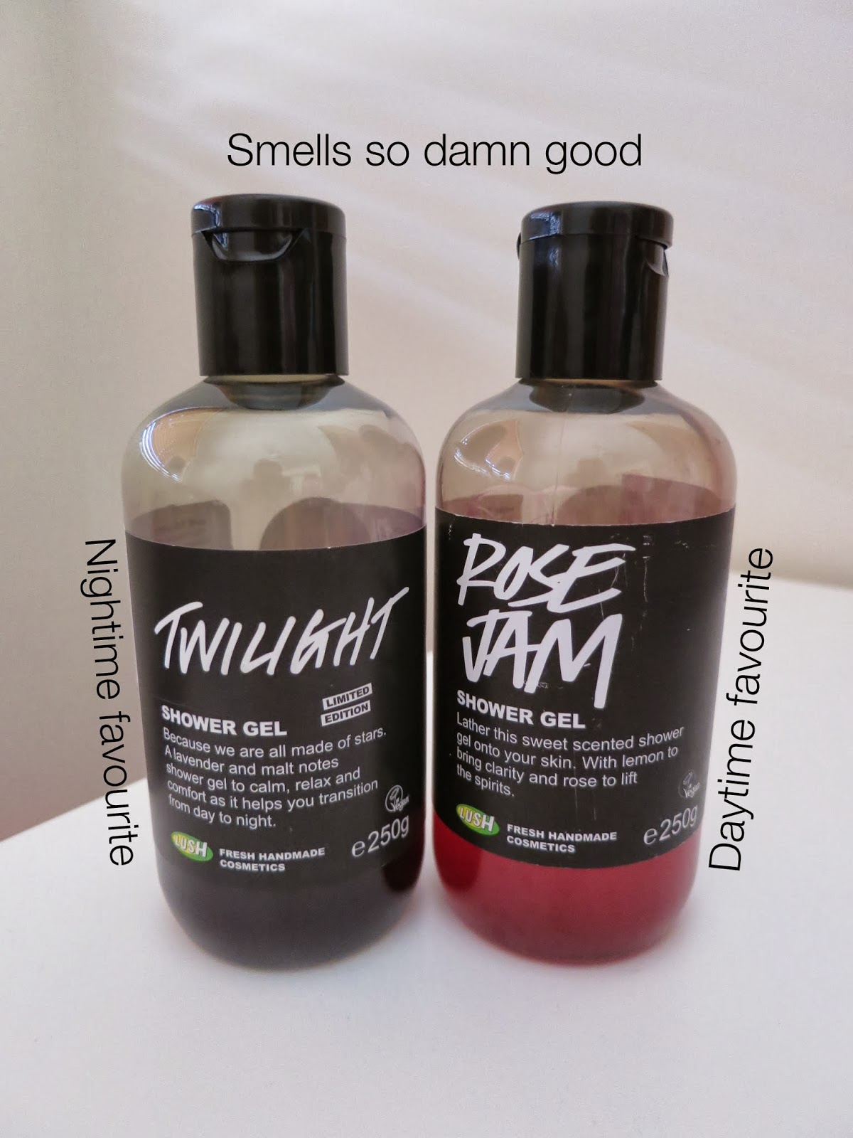 christmas haul, lush shower gel, twilight, rose jam