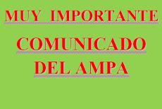COMUNICADO DEL AMPA