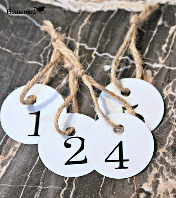 enamel metal tags with jute