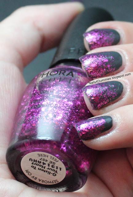 Grey and Magenta Glitter Gradient