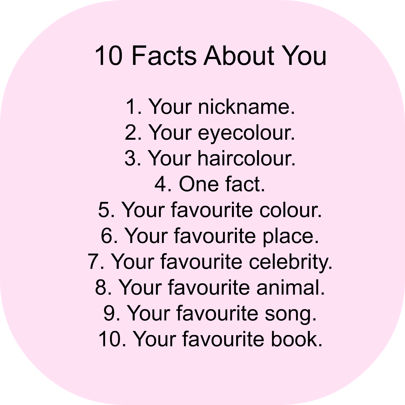 10 Facts About Me Facts About Me Questions