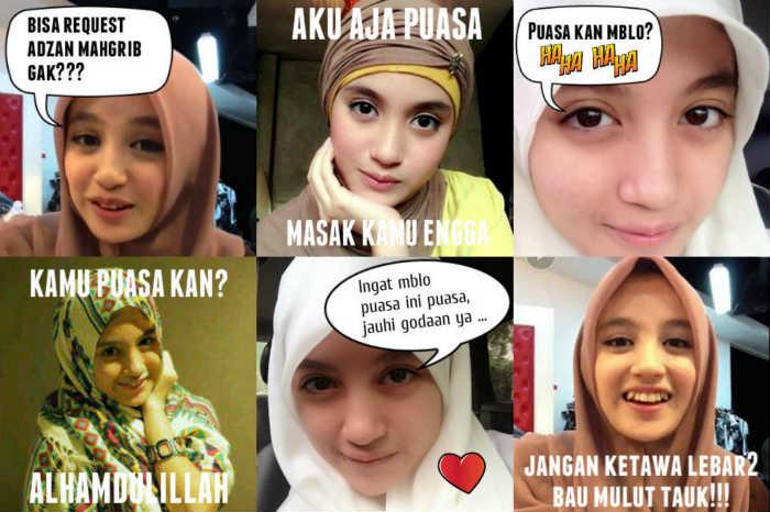 Gambar DP BBM Bergerak Puasa Nabilah JKT48