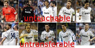 Daftar Pemain Tidak Dijual Real Madrid untuk Musim 2013-2014