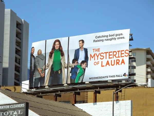 Mysteries of Laura series premiere billboard