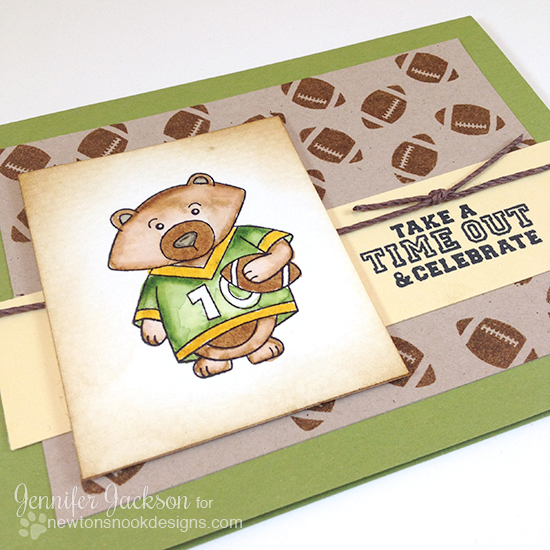 Football card by Jennifer Jackson | Touchdown Tails stamp set by Newton's Nook Designs #football #gopackgo
