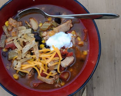Easy Chicken or Turkey Tortilla Soup Recipe