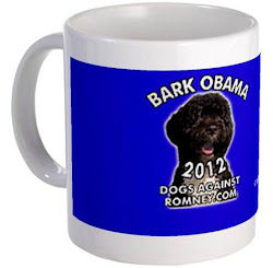 "Official Dogs Against Romney ""Bark Obama"" Mugs"
