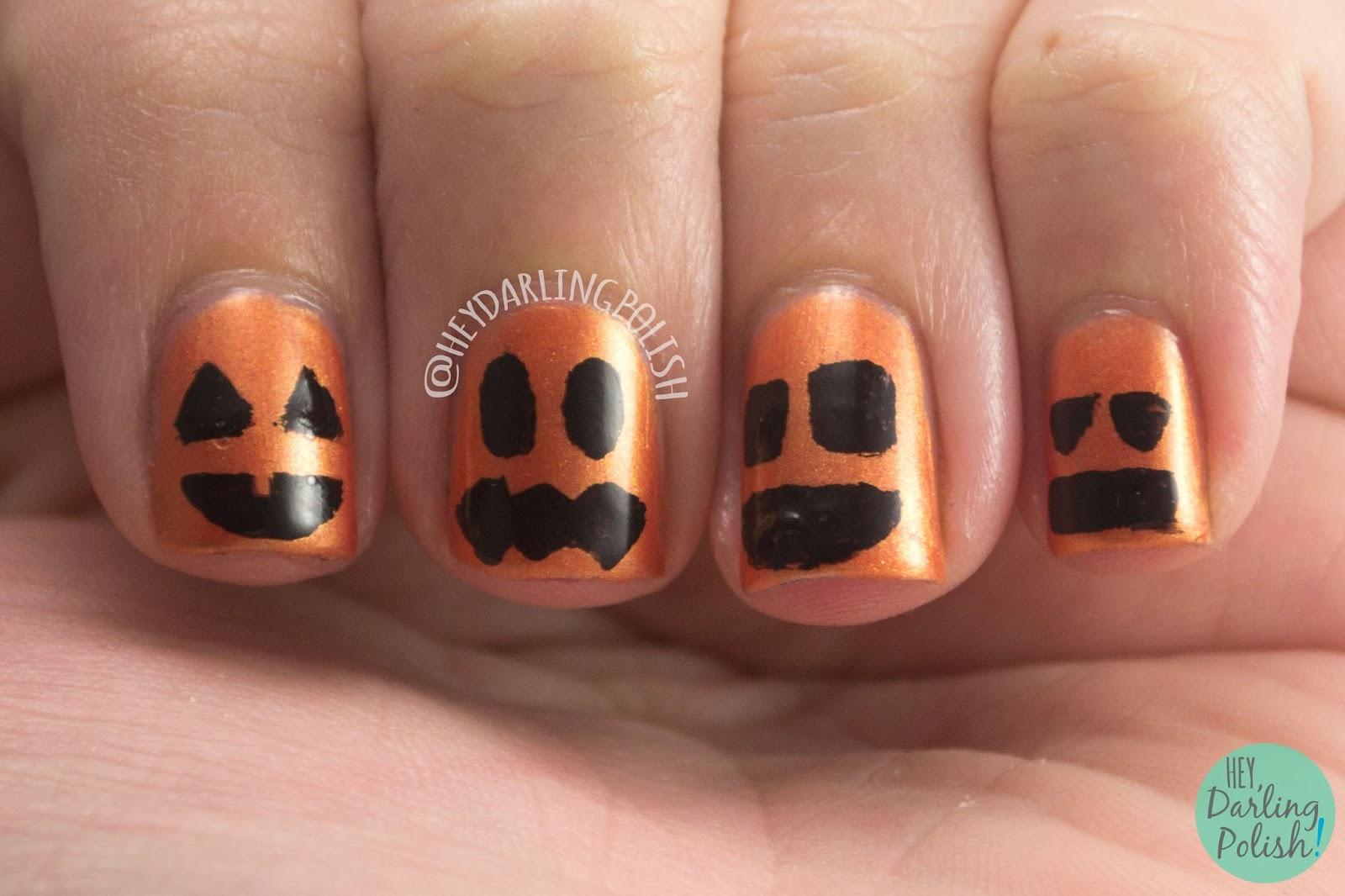 nails, nail art, nail polish, indie polish, indie, liquid kandi, october sweet treat box, halloween, orange, pumpkins, autumn leaves, shimmer