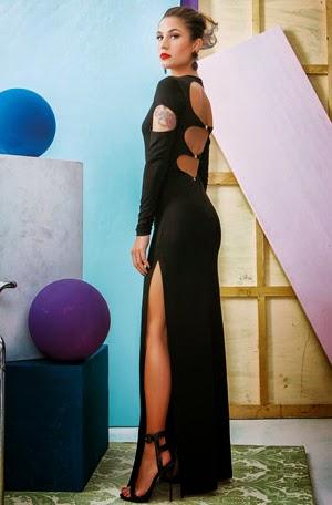 Looks de fiesta para brillar en Nochevieja de Denny Rose vestido largo negro