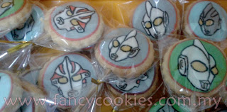 Fancy Cookies Ultraman Mebius, Tiga dan Cosmos cookie pop