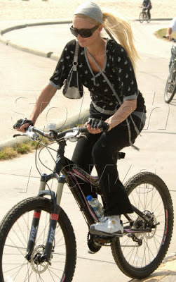 paris hilton mountain biking