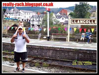 Really Rachel Daddy and his boy at Llangollen railway station
