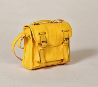 Sponsored Bag of the Week: Yellow leather satchel at Flights of Nancy