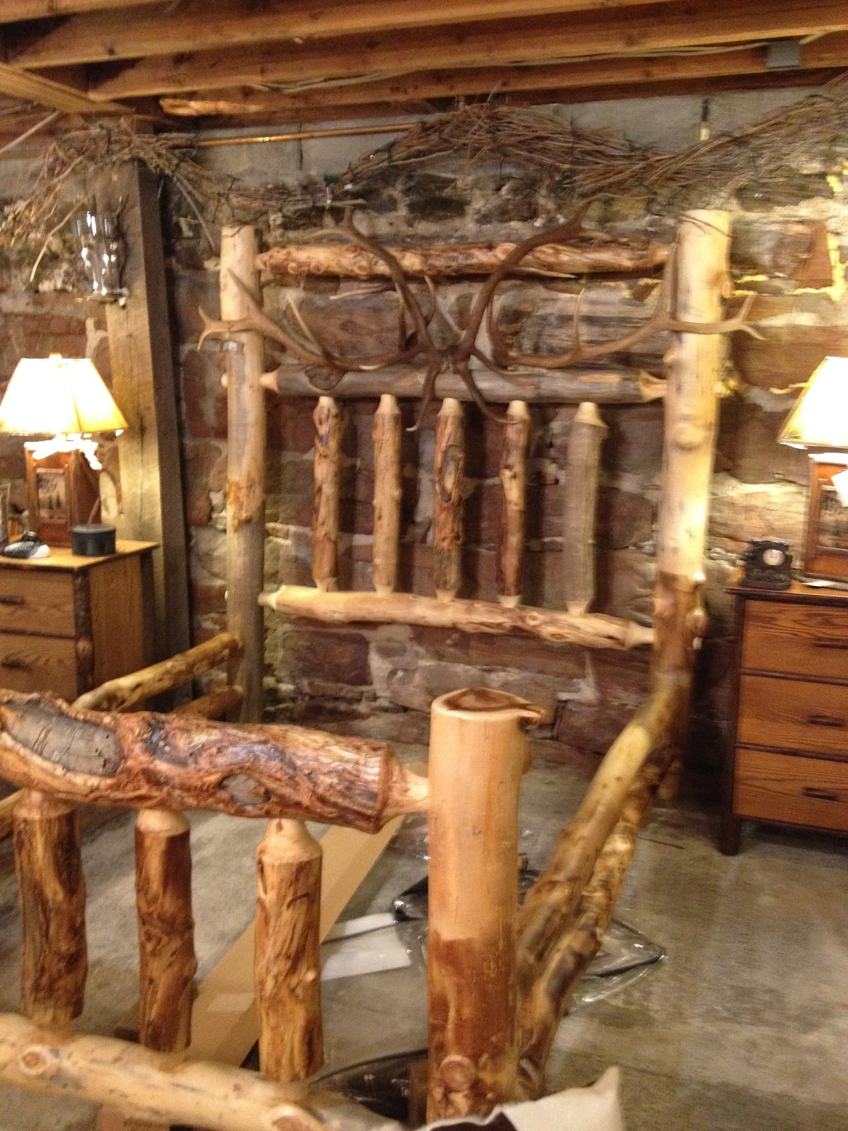 First Is A Rustic Bed Frame For Sale In North Creek Fashioned Traditional Adirondack Style Yuck I Mean Do Really Need To Be Poking My Eyes Out With