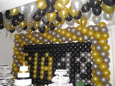 Balões com gás helio