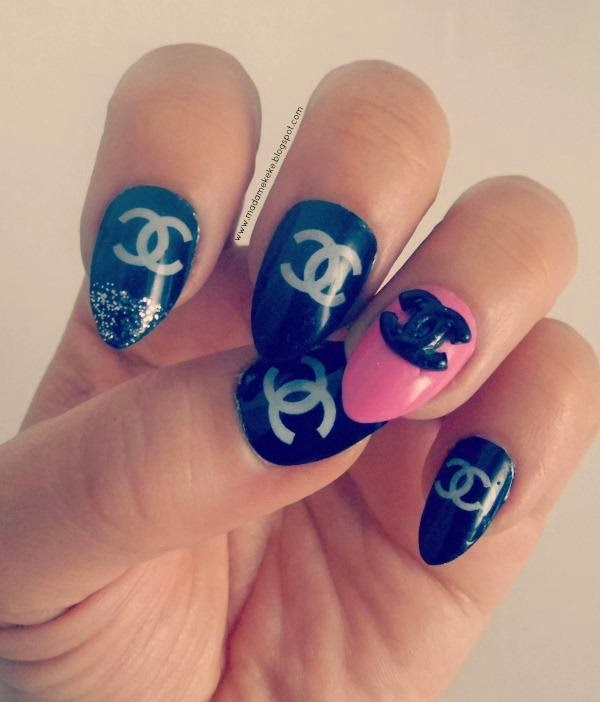 Coco Chanel Inspired Claw Nail Art 3d