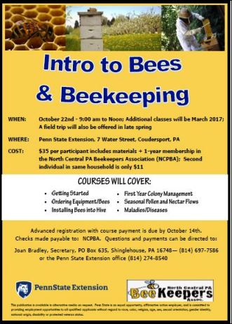 10-22 Intro To Bees & Beekeeping