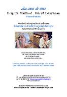 Monde en poésie Au coeur de vivre Concert Brigitte Maillard Hervé Lesvenan