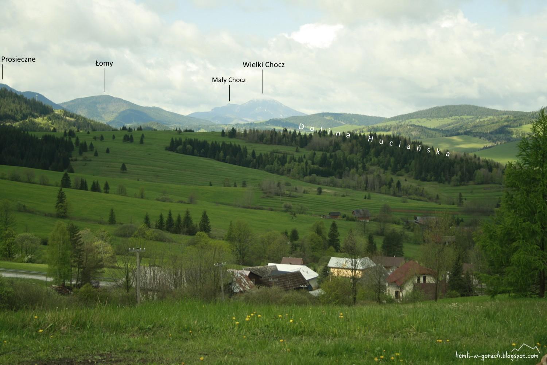 Panorama z Wyżniej Huciańskiej Przełęczy