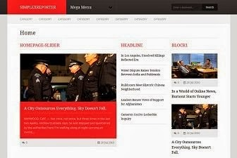 Simplex Reporter News Blogger Template