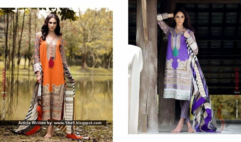Firdous Summer Lawn 2015-2016 Collection