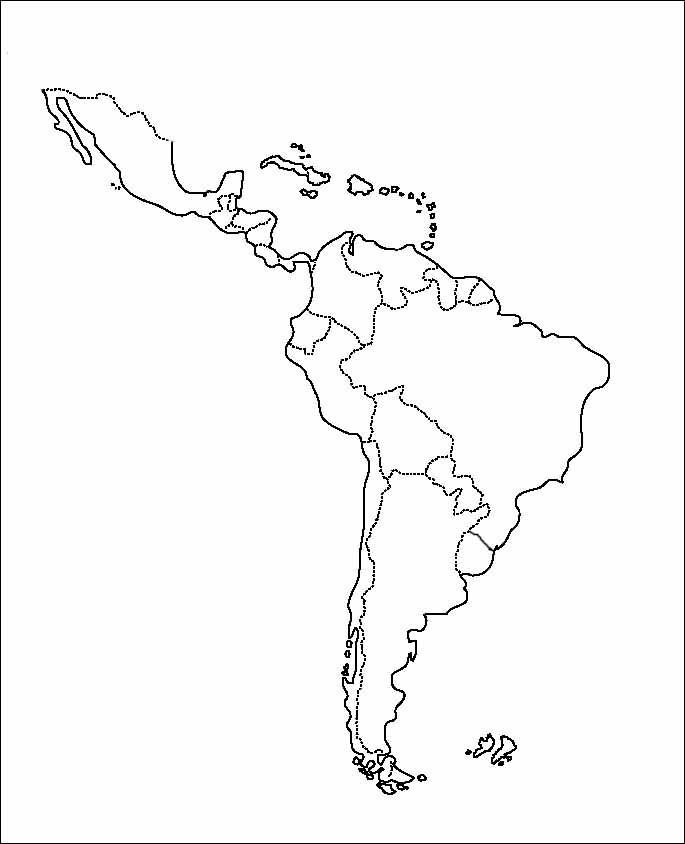 Mapa De America Latina Para Colorear