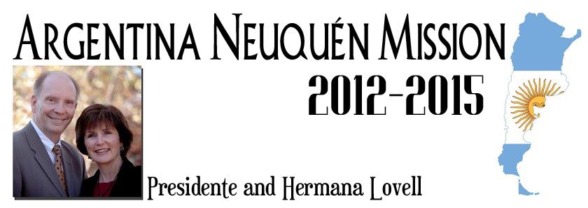 Lovells In Argentina: Argentina Neuquen Mission 2012-2015