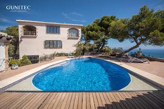 piscina con cubierta4 Piscina irregular con cubierta automática