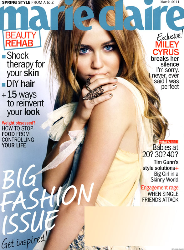 miley cyrus 2011 march. Miley Cyrus - Marie Claire