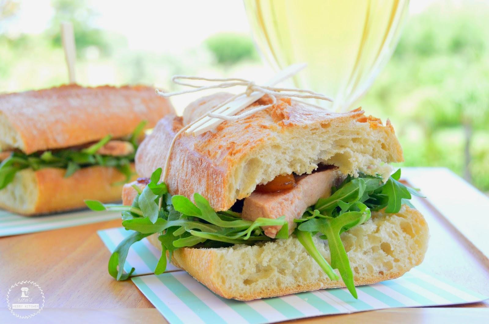 Sandes de Foie Gras e Pêra Caramelizada by Rita´s Messy Kitchen