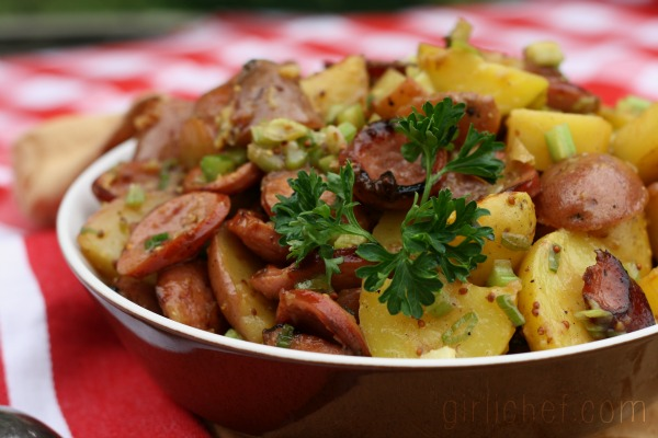 Sausage Potato Salad {#SundaySupper: Summer BBQ} | www.girlichef.com