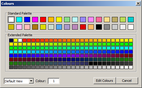 Maptek Vulcan extended color palette