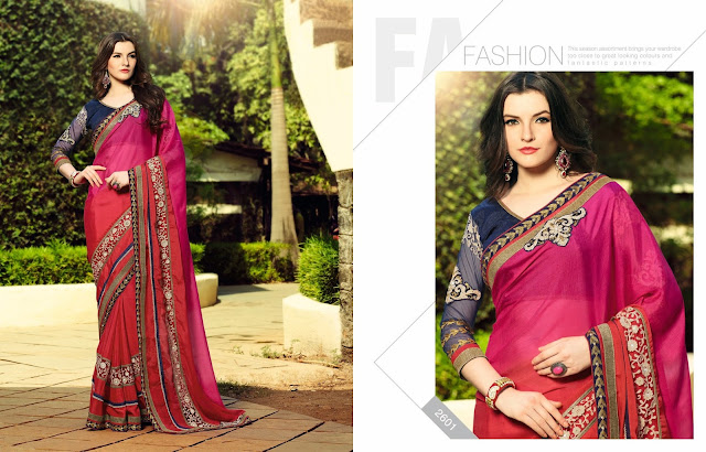 New Designer Embroidered Saree – Wholesale