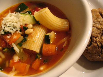 Hearty Italian Bean and Pasta Soup