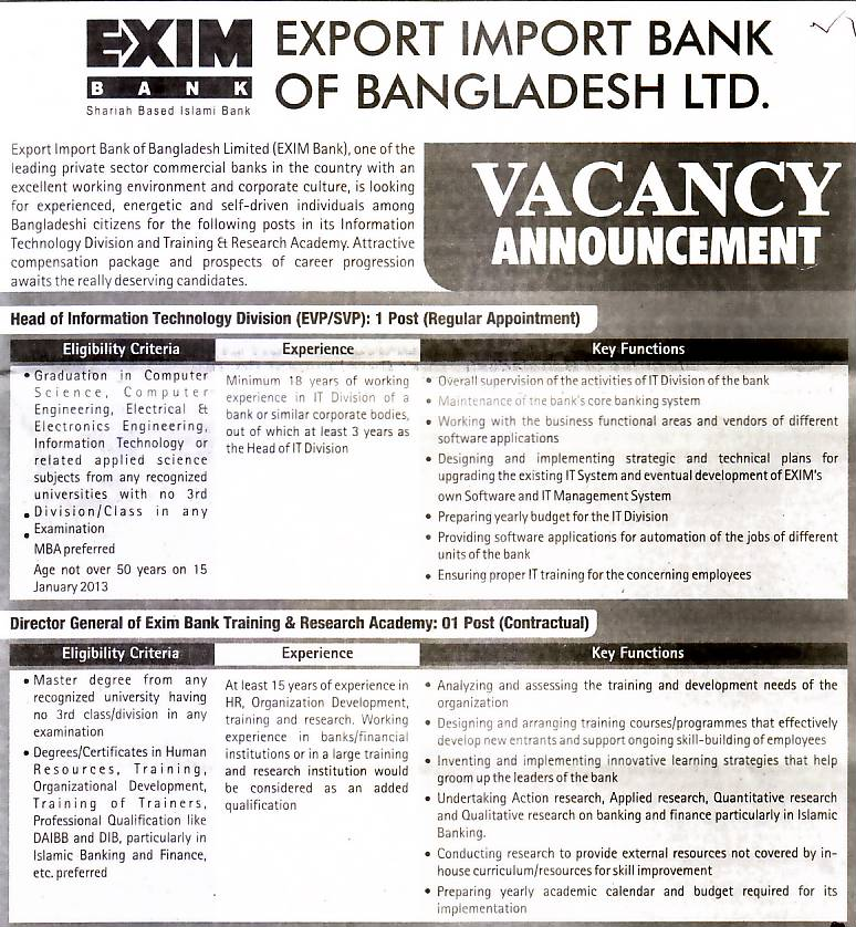 internship report in exim bank in bangladesh on training and development The contemporary banks of sbl like dhaka bank, prime bank, one bank, southeast bank exim bank is its major rivals exim bank is its major rivals they are carrying out aggressive comparing to lucrative, corporate clients as well as long time depositors.